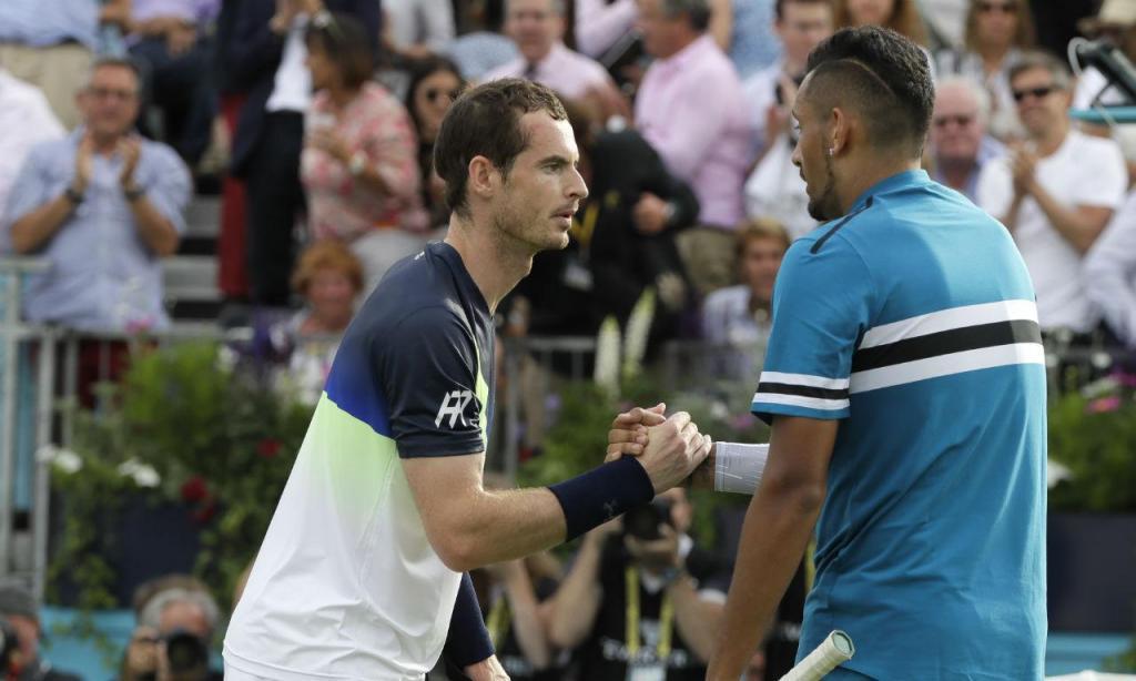Nick Kyrgios e Andy Murray (AP)