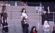 FC Seoul pôs bonecas na bancada no jogo com o Gwangju