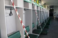 Estádio Capital do Móvel adaptado à covid-19 (fotos do Paços de Ferreira)