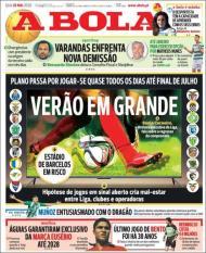 Revista de imprensa de 20 de maio de 2020