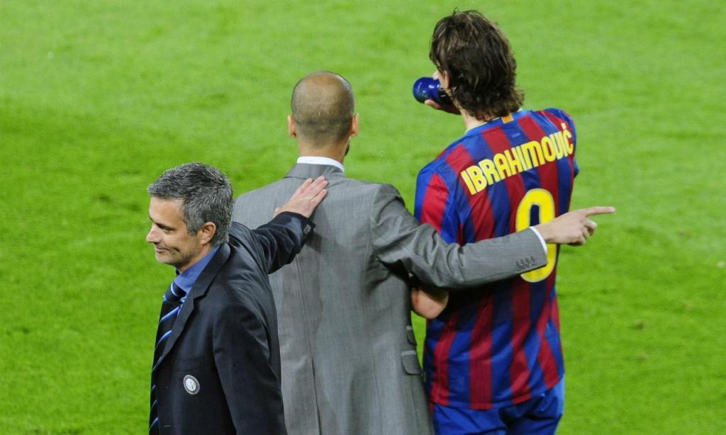 José Mourinho e Pep Guardiola (AP)