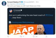 Cincinnati apresentou Jaap Stam com a imagem de outro treinador, internet não perdoou