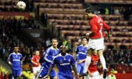 Golo de Cristiano Ronaldo no Manchester United-Chelsea, final da Liga dos Campeões de 2008 (AP/Sergey Ponomarev)