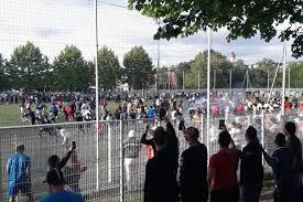 Jogo com equipas de bairros juntos centenas de pessoas em Estrasburgo