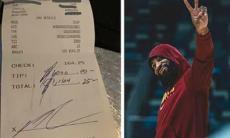 NBA: jogador deixou gorjeta de mil dólares numa conta de 164