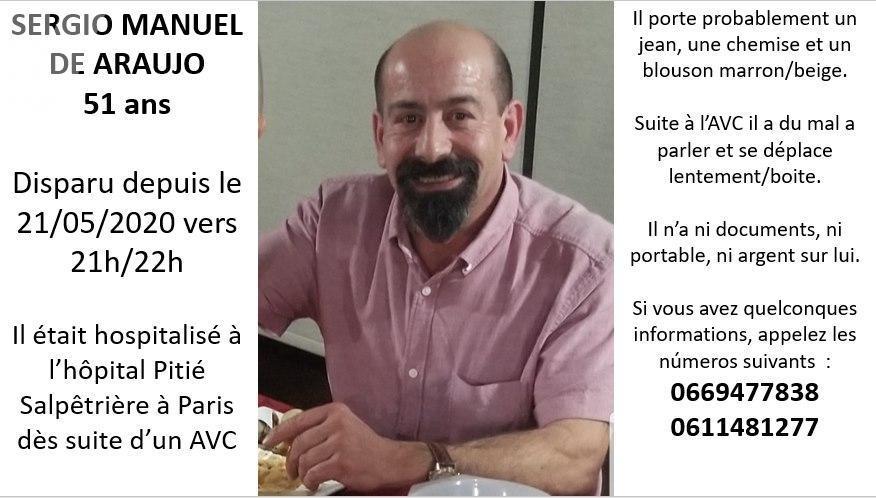 Português desaparecido em Paris