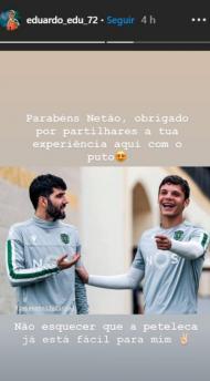 Eduardo Quaresma deu os parabéns a Luís Neto