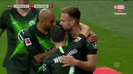 Pongracic abre o marcador para o Wolfsburgo em casa do Leverkusen