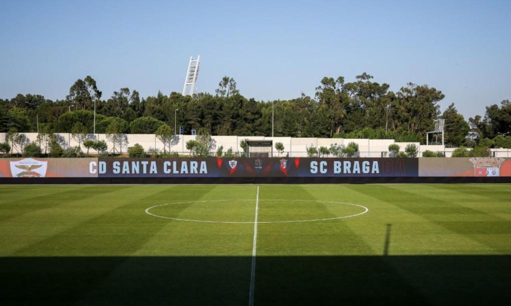 Bancada virtual na Cidade do Futebol