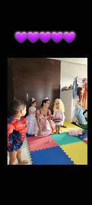 Georgina Rodriguez e os filhos de Cristiano Ronaldo