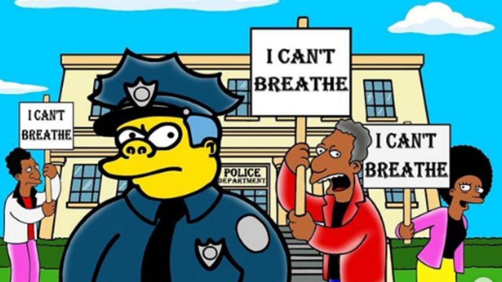 Simpsons mudam de cor para homenagear George Floyd