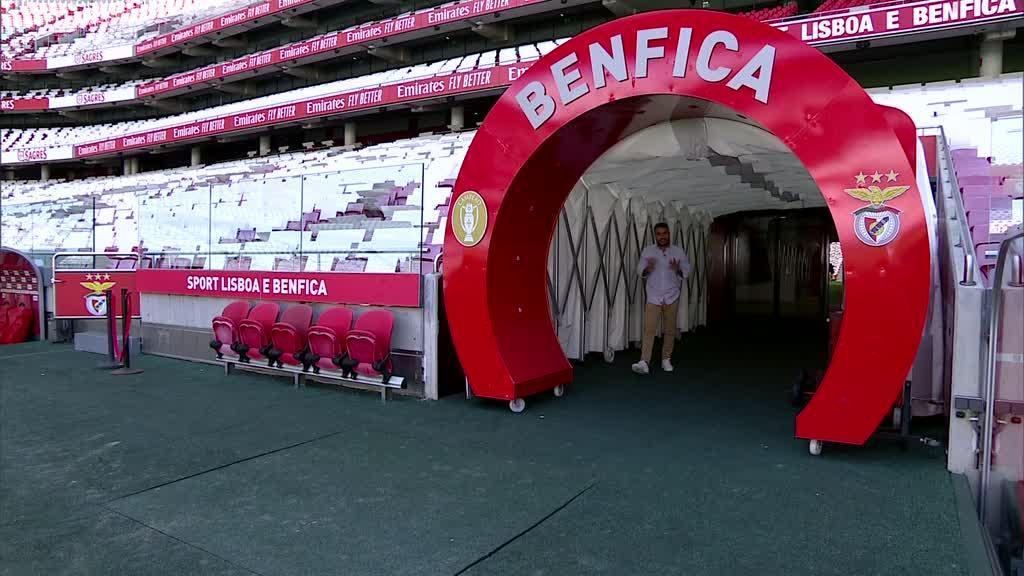 VÍDEO: estádio da Luz prepara-se para o regresso do futebol