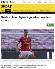 FOTOS: a reação do mundo ao ataque ao autocarro do Benfica