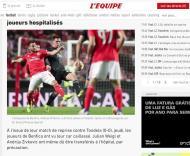 Veja como o mundo viu o ataque ao autocarro do Benfica