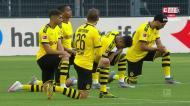 Mais uma homenagem forte a George Floyd antes do Dortmund-Hertha