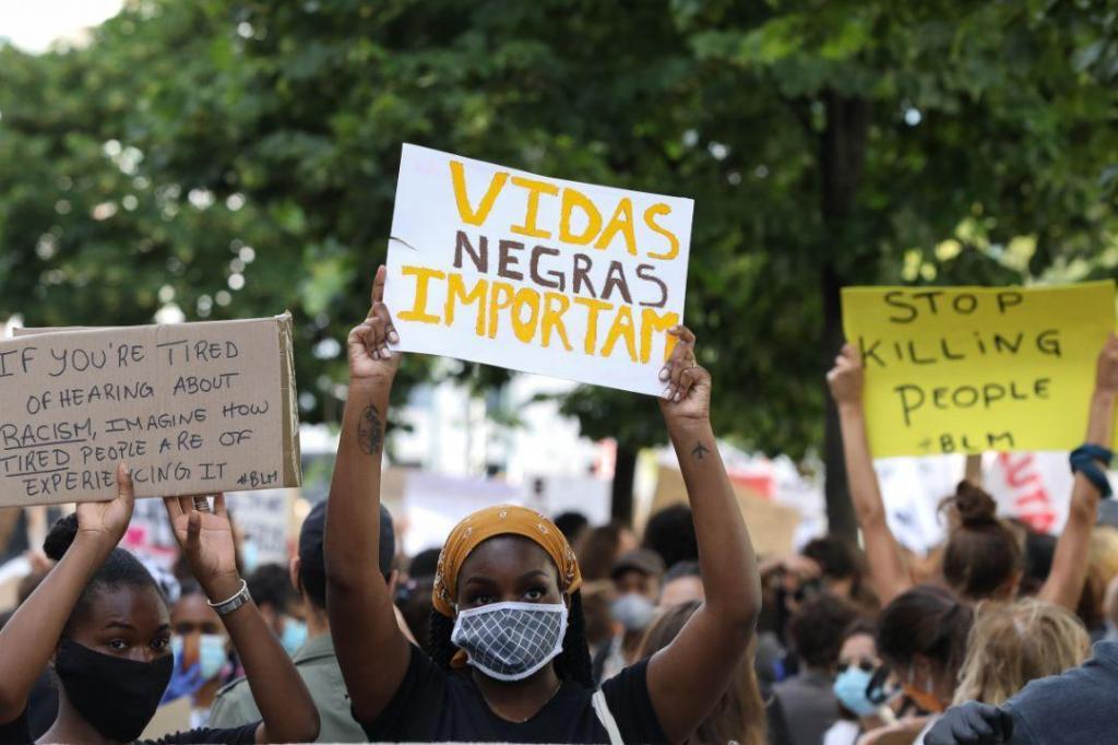 Manifestação contra o racismo em Lisboa