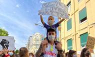 Micah Downs participa na manifestação contra o racismo, em Lisboa (Instagram)
