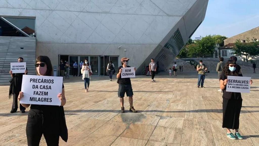 Protesto na Casa da Música