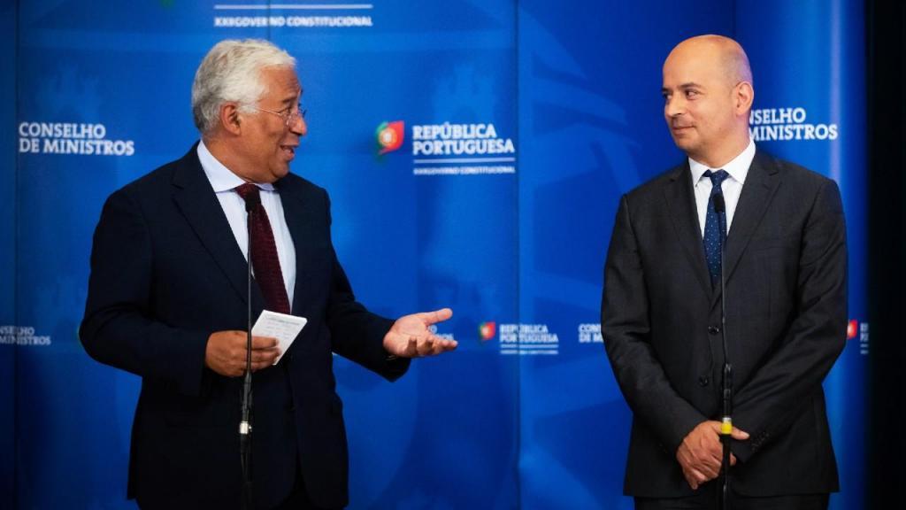 Mário Centeno, António Costa, João Leão