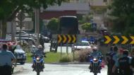 Benfica chega ao estádio sob fortes medidas de segurança