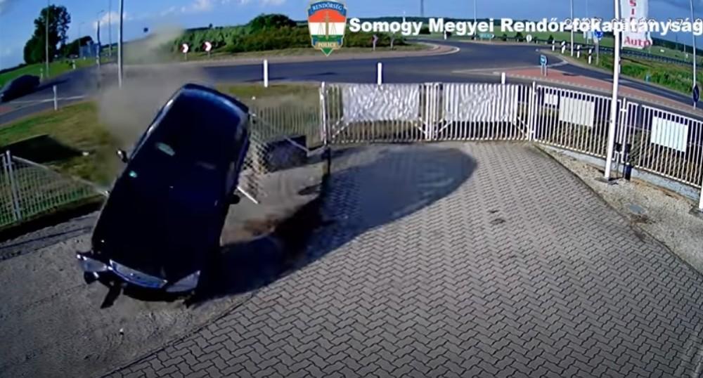 Acidente na Hungria (Reprodução Youtube)