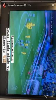 Bruno Fernandes esteve atento ao jogo do Sporting