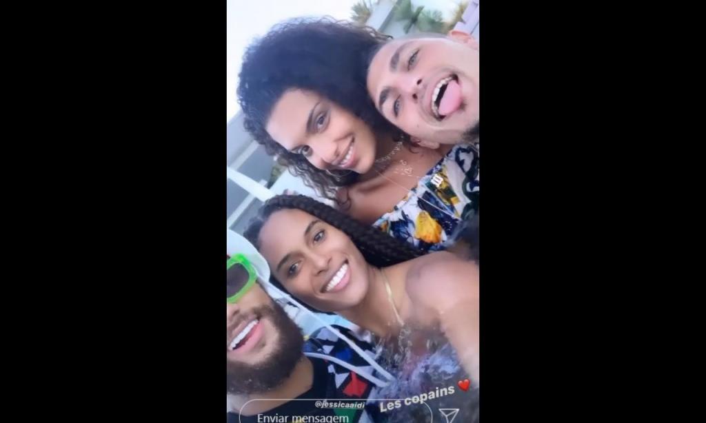 Neymar e Verratti de férias