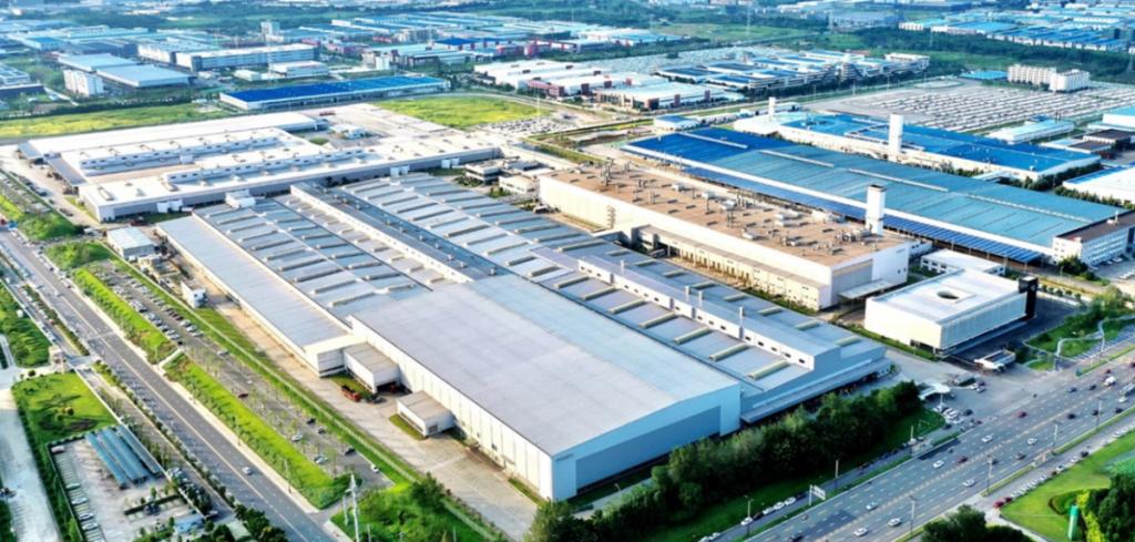 Fábrica da Volvo Cars em Chengdu, na China