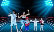 Georgina Rodriguez com os filhos de Ronaldo