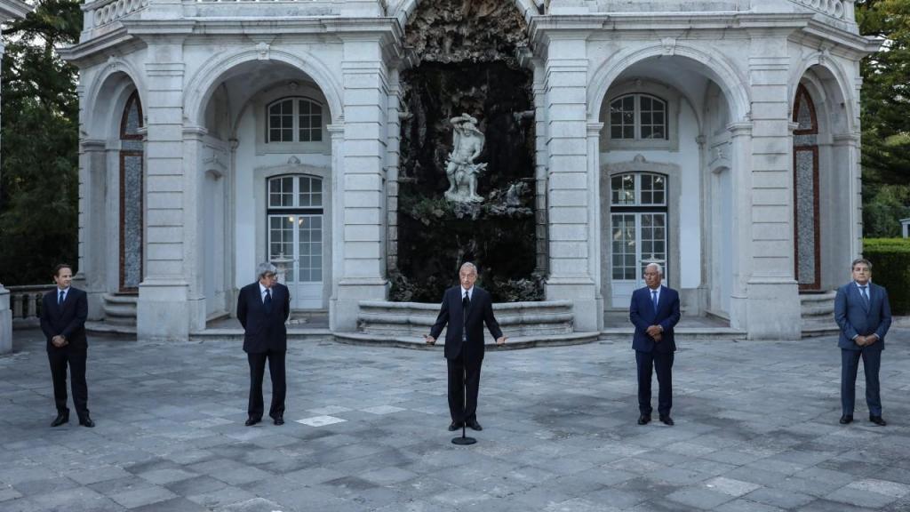 Marcelo Rebelo de Sousa, Fernando Medina, Ferro Rodrigues, António Costa e Fernando Gomes e