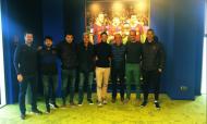 Iban Cuadrado, treinador adjunto do Barcelona, à direita na foto (twitter pessoal)