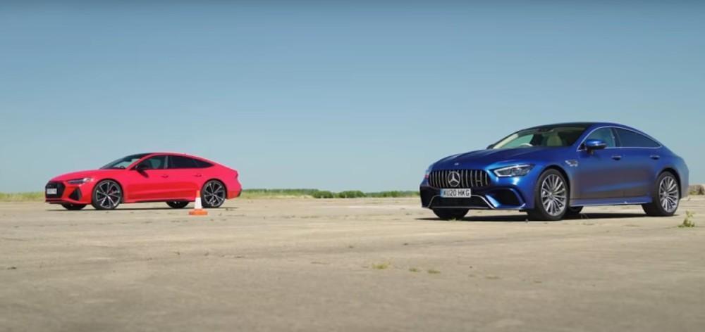 Drag Race Audi RS7 Vs AMG GT 63S (Reprodução Youtube Carwow)