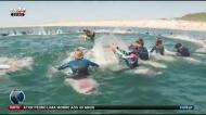 Vários surfistas (entre eles Frederico Morais) homenageram Pedro Lima
