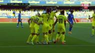 Paco Alcácer inaugura o marcador para o Villarreal diante do Sevilha