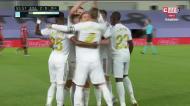 Sergio Ramos marcou de livre e festejou à CR7