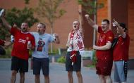 Adeptos do Liverpool em festa