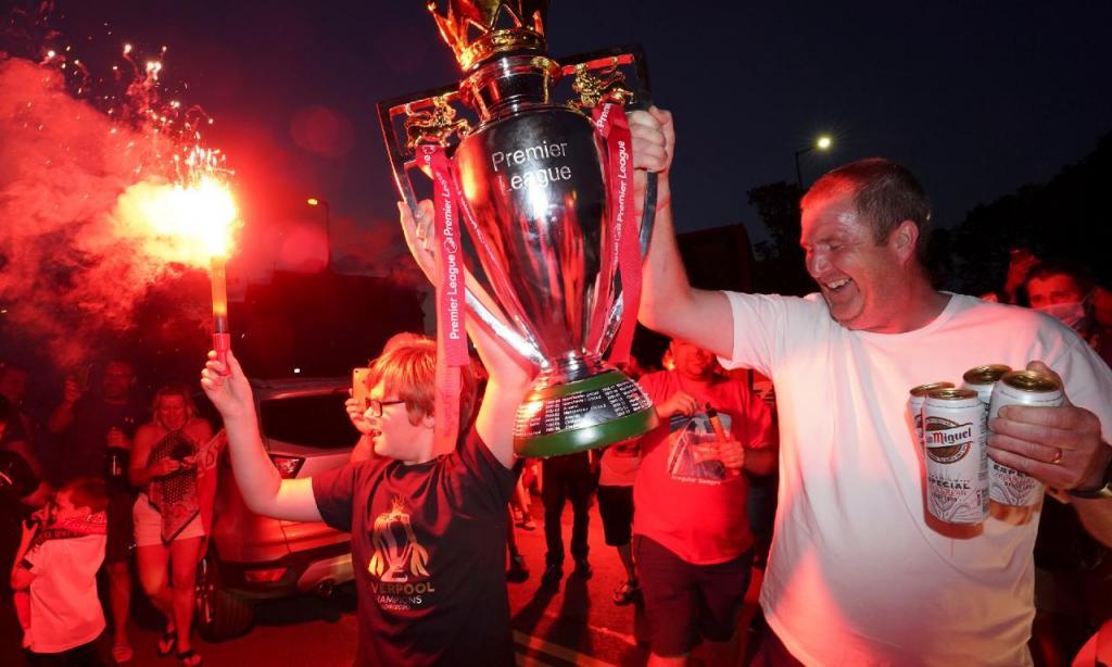 As melhores imagens da festa do Liverpool (AP)