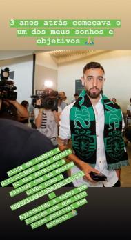 Bruno Fernandes lembra chegada ao Sporting (Instagram-Bruno Fernandes)