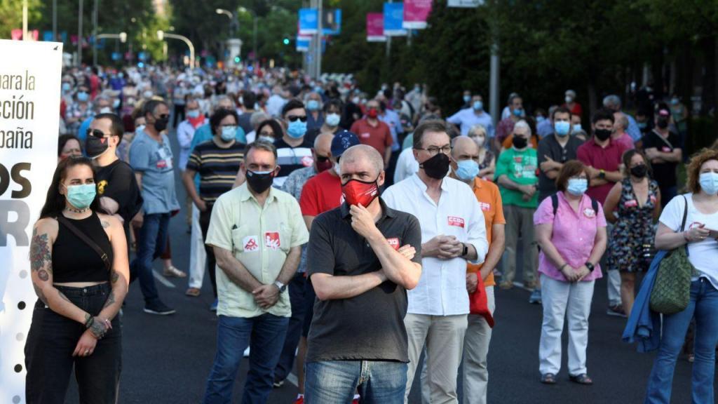 Protesto em Espanha