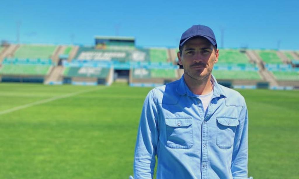 Iker Casillas no Estádio do Rio Ave FC