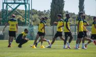 Treino do Sporting na antevéspera do Moreirense. Jovane Cabral integrado sob vigilância médica (Sporting CP)