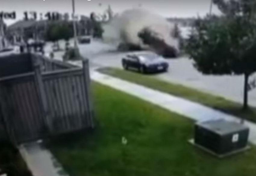 Acidente no Canadá (reprodução YouTube «CityNews toronto»)