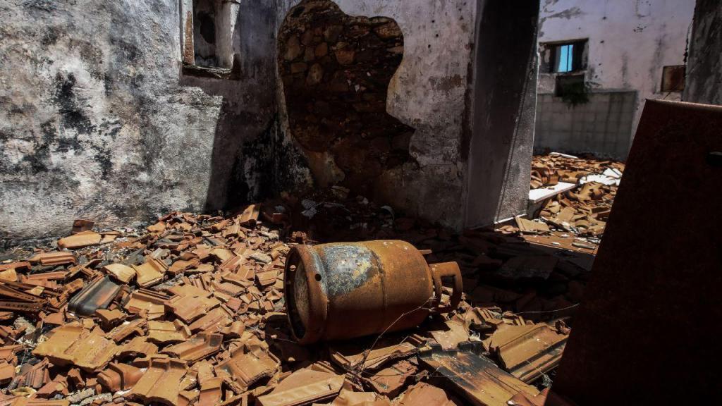Capela destruída pelos fogos de 2017 em Pedrógão Grande
