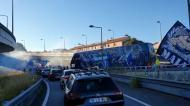 Adeptos do FC Porto acompanharam chegada do autocarro