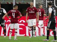 Zlatan Ibrahimovic após marcar o penálti frente à Juventus