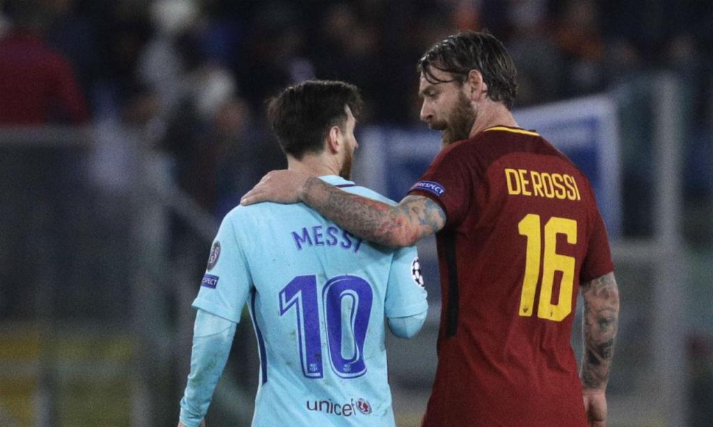 De Rossi e Messi (AP)