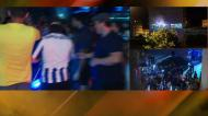 Centenas de adeptos ovacionam jogadores do FC Porto à saída do Dragão