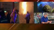 Pirotecnia provocou foco de incêndio junto ao Estádio do Dragão