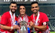 David Simão, Josué e Miguel Vítor vencem Taça de Israel (Instagram Miguel Vítor)
