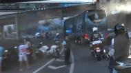 Euforia na chegada do autocarro do FC Porto ao Dragão